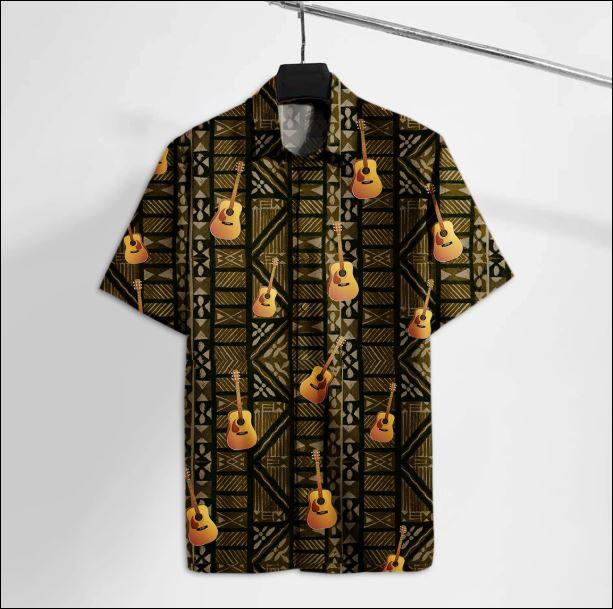 Acoustic guitar hawaiian shirt