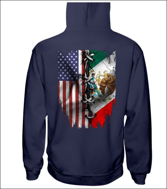 American and Mexican flag hoodie