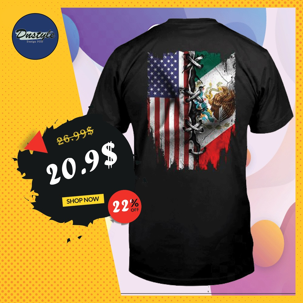 American and Mexican flag shirt