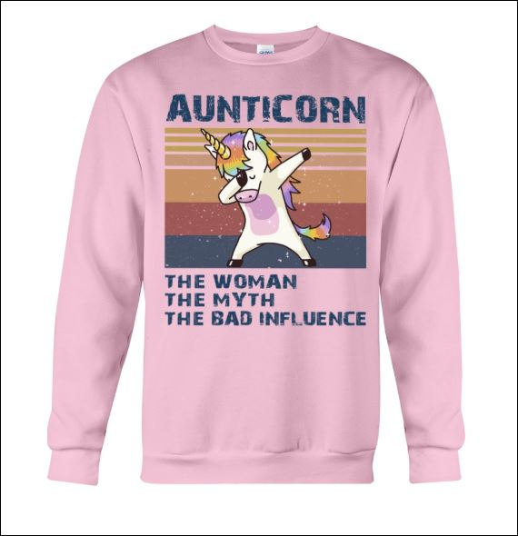 Aunticorn the woman the myth the bad influence vintage sweater