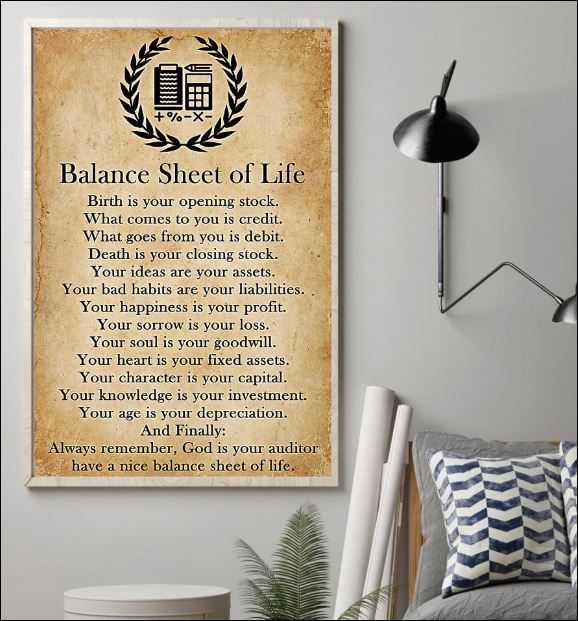 Balance sheet of life poster 1
