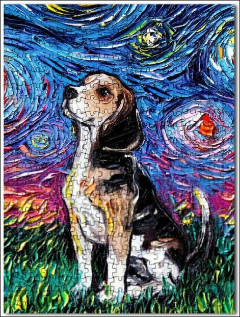 Beagle art jigsaw puzzles
