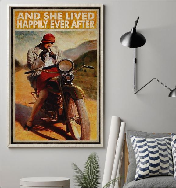 Biker girl and she lived happily ever after poster 1