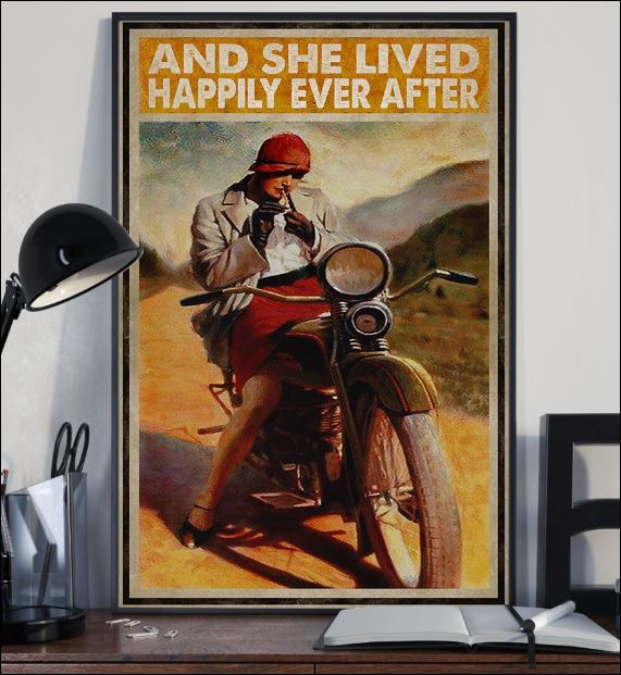 Biker girl and she lived happily ever after poster 2