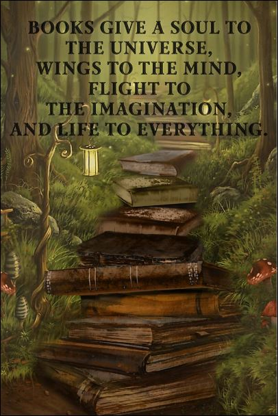 Books give a soul to the universe wings to the mind flight to the imagination poster