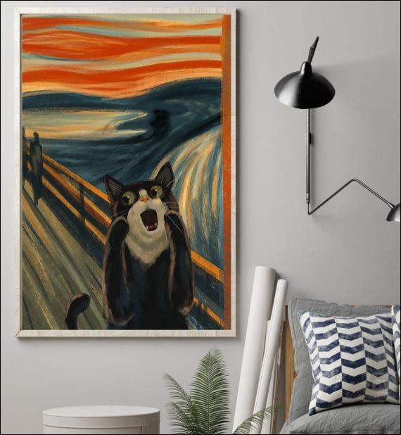 Cat the scream art poster 1