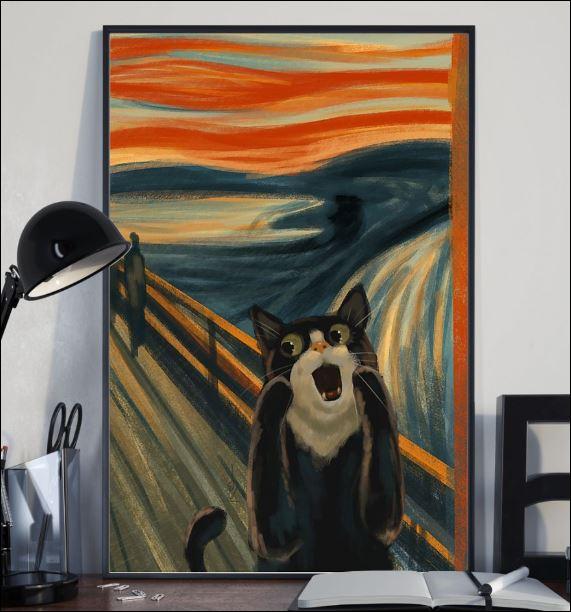 Cat the scream art poster 2