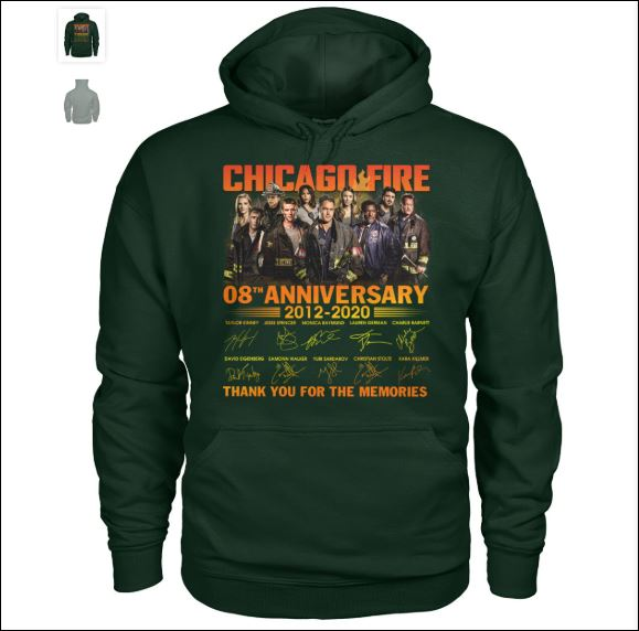 Chicago fire 8th anniversary hoodie