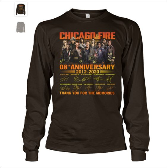 Chicago fire 8th anniversary long sleeved