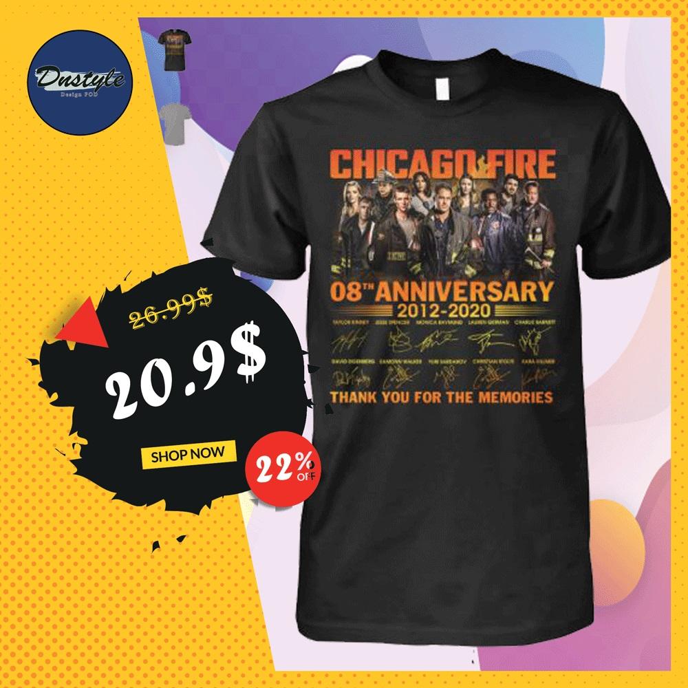 Chicago fire 8th anniversary shirt