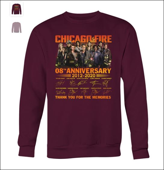Chicago fire 8th anniversary sweater