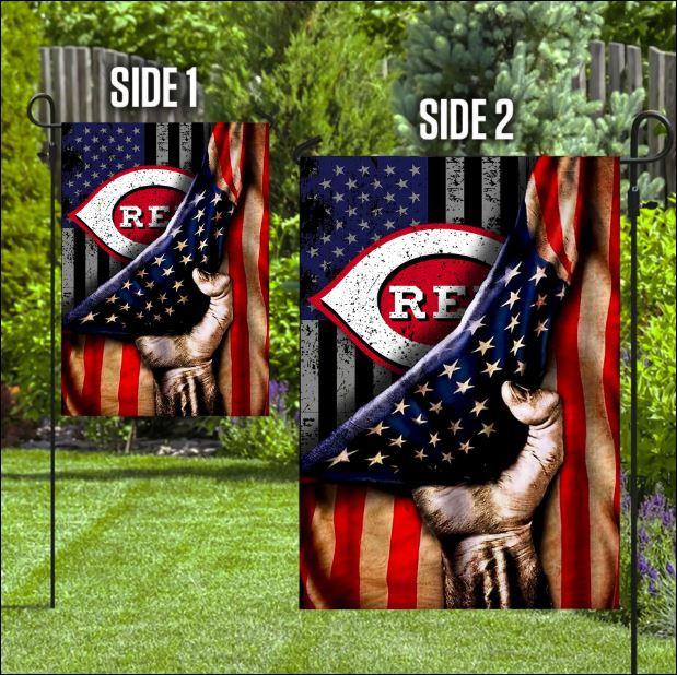 Cincinnati Reds American flag
