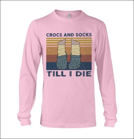 Crocs and socks till i die vintage long sleeved