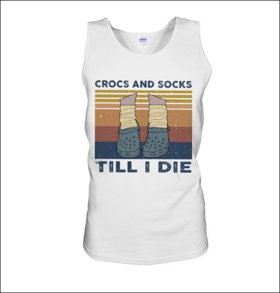 Crocs and socks till i die vintage tank top