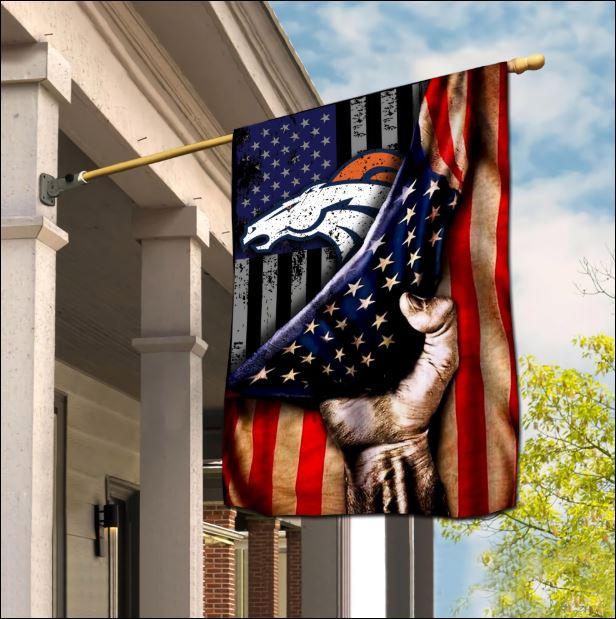 Denver Broncos American flag