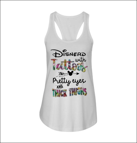 Disnerd with tattoos pretty eyes and think things tank top