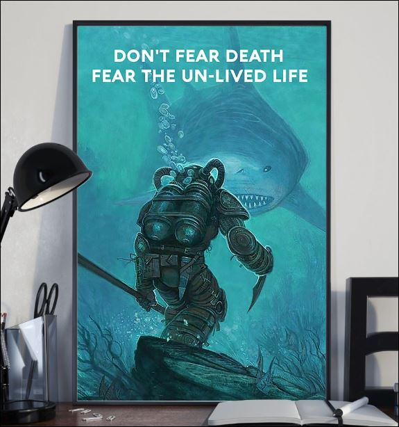 Don't fear death fear the un-lived life poster 2