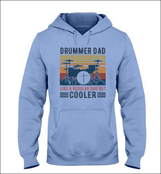Drummer dad like a regular dad but cooler vintage hoodie