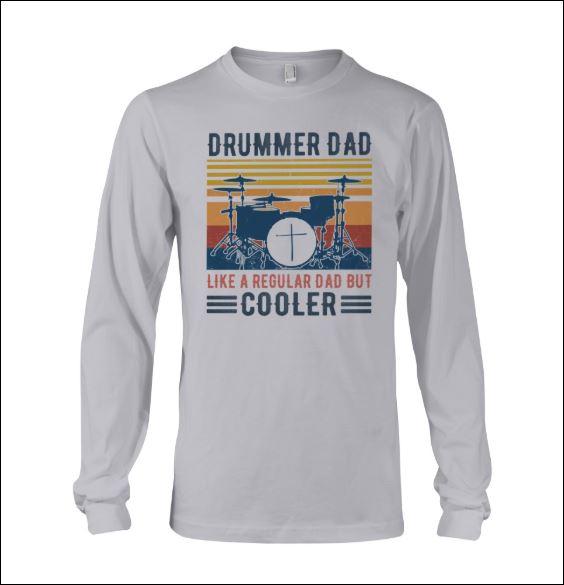 Drummer dad like a regular dad but cooler vintage long sleeved