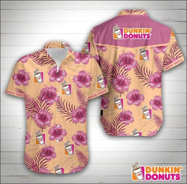 Dunkin donuts' hawaiian shirt