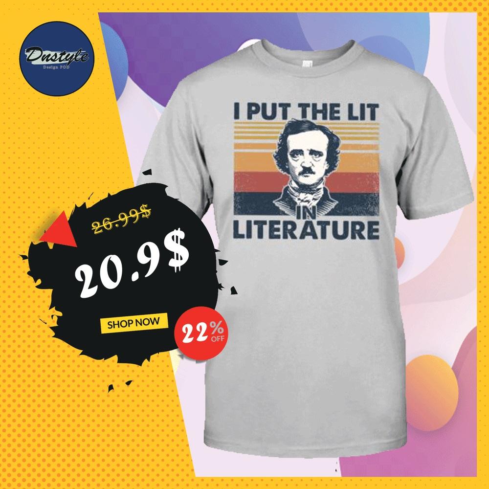 Edgar Allan Poe i put the lit literature vintage shirt