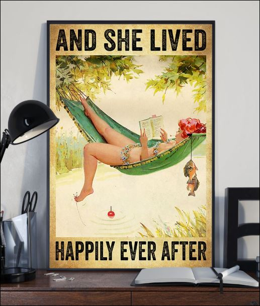 Fishing and she lived happily ever after poster 1