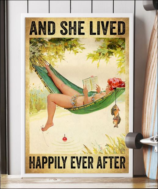 Fishing and she lived happily ever after poster 2