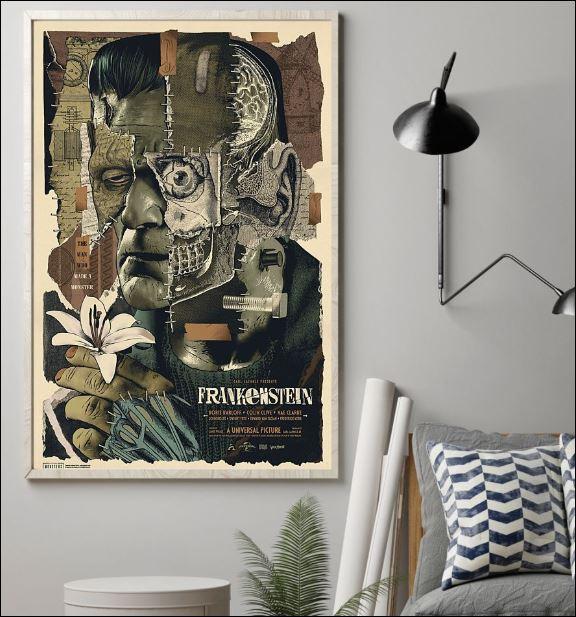 Frankenstein floral poster 1
