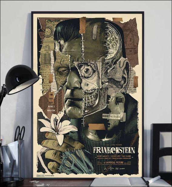 Frankenstein floral poster 2