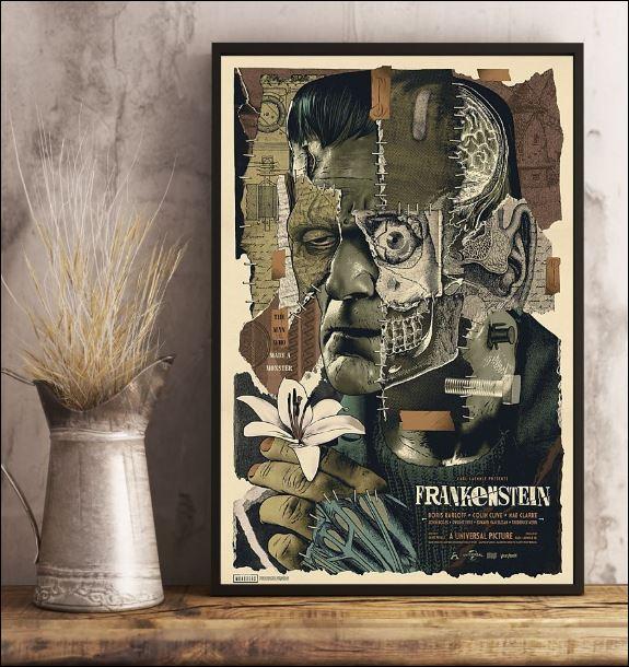 Frankenstein floral poster 3