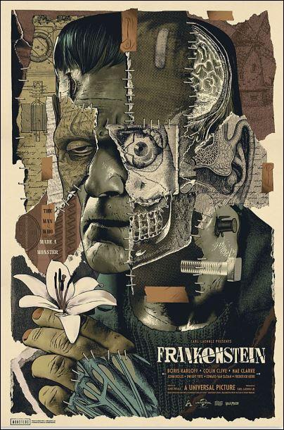 Frankenstein floral poster