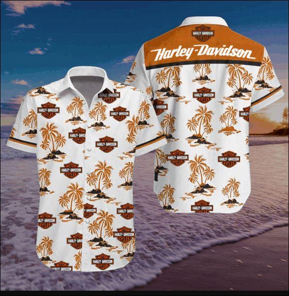 Harley Davidson hawaiian shirt