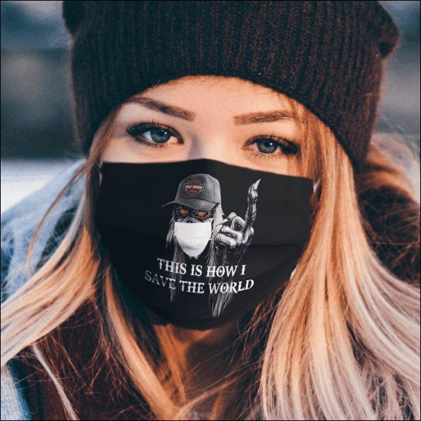 Harley davidson Iron maiden face mask