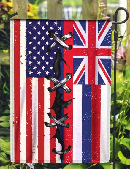 Hawaii and American flag