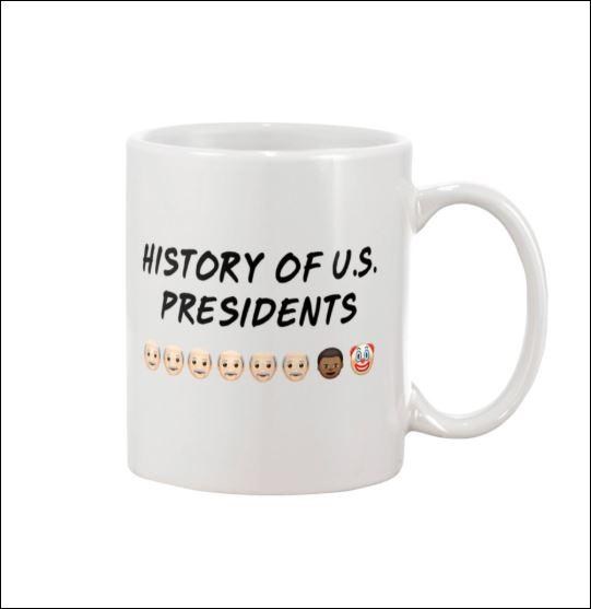 History of US presidents mug