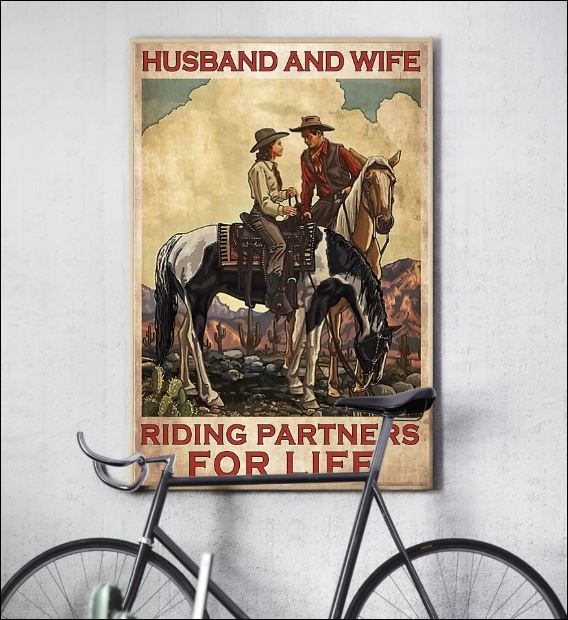 Horse husband and wife riding partners for life poster 3