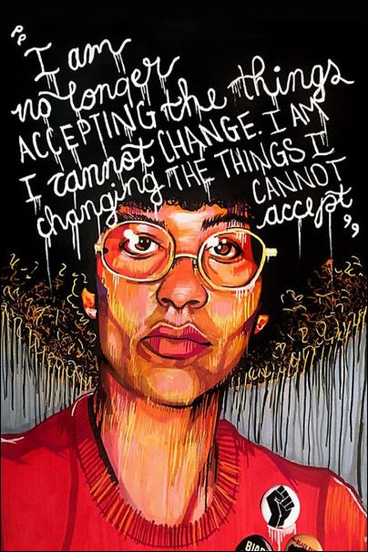 I am no longer accepting the things i cannot change i am changing the things i cannot accept poster