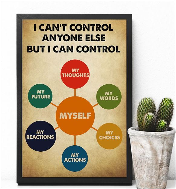 I can't control anyone else but i can control myself poster 3
