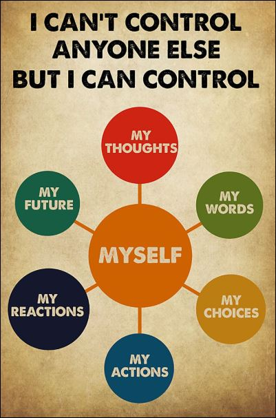 I can't control anyone else but i can control myself poster