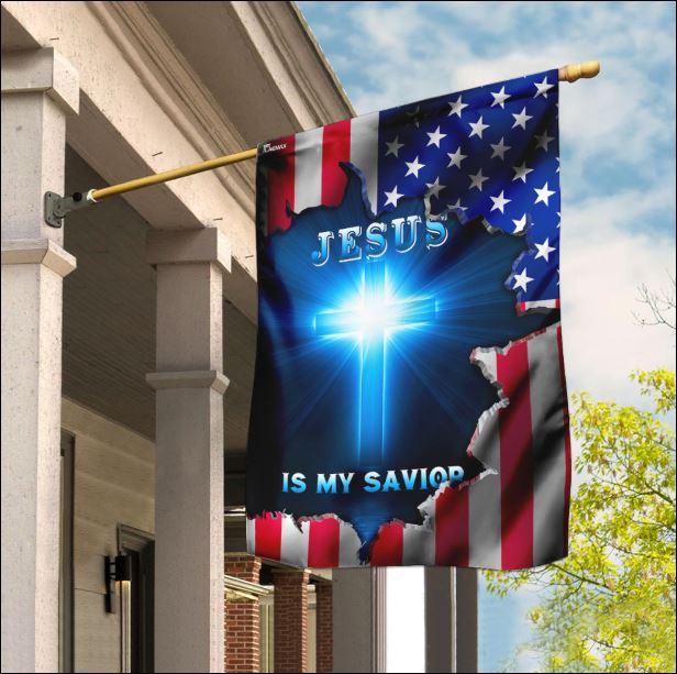 Jesus is my savior American flag