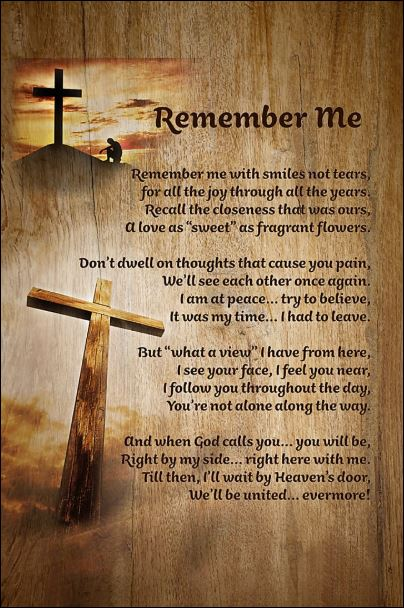 Jesus remember me poster