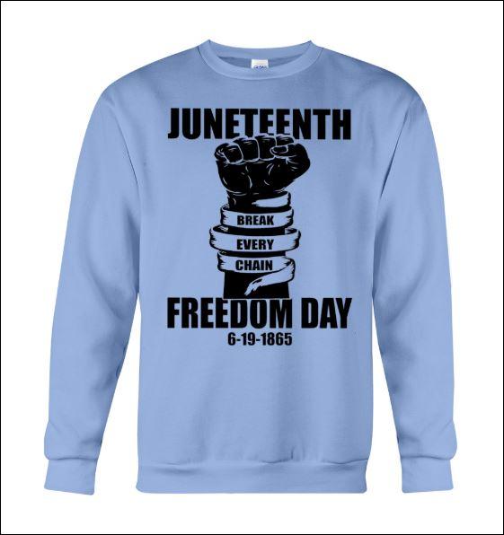 Juneteenth freedom day break every chain sweater