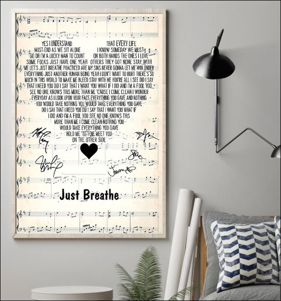 Just breathe lyric signatures poster 1