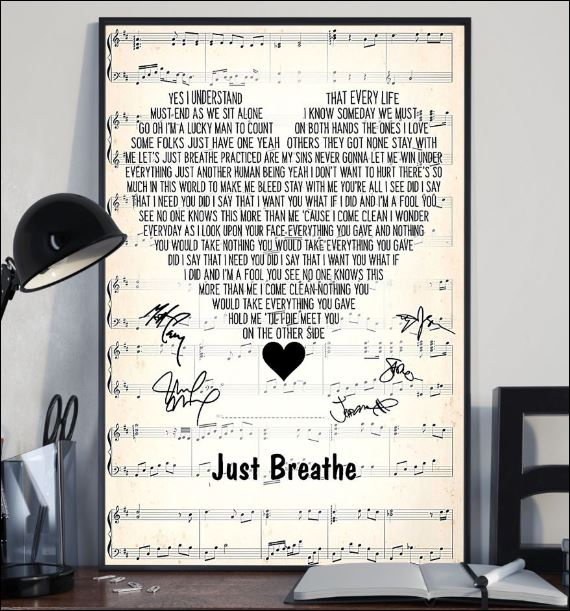 Just breathe lyric signatures poster 2
