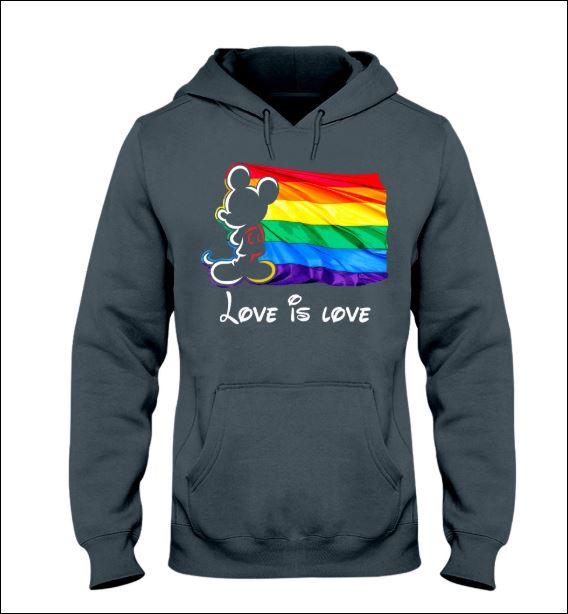 LGBT Mickey Mouse love is love hoodie