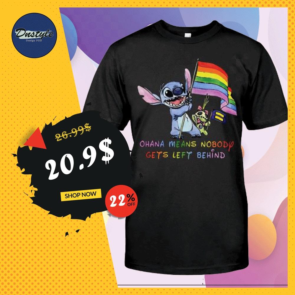 LGBT Stitch ohana means nobody gets left behind shirt