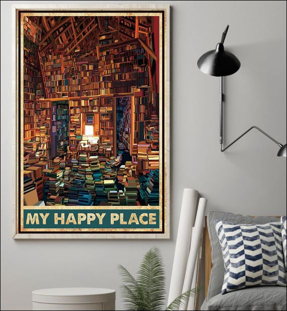 Library my happy place poster 1