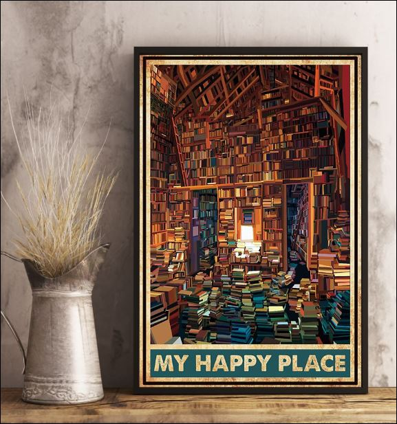 Library my happy place poster 2