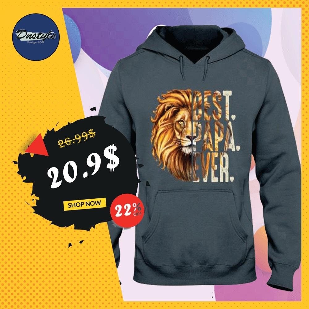 Lion best papa ever hoodie