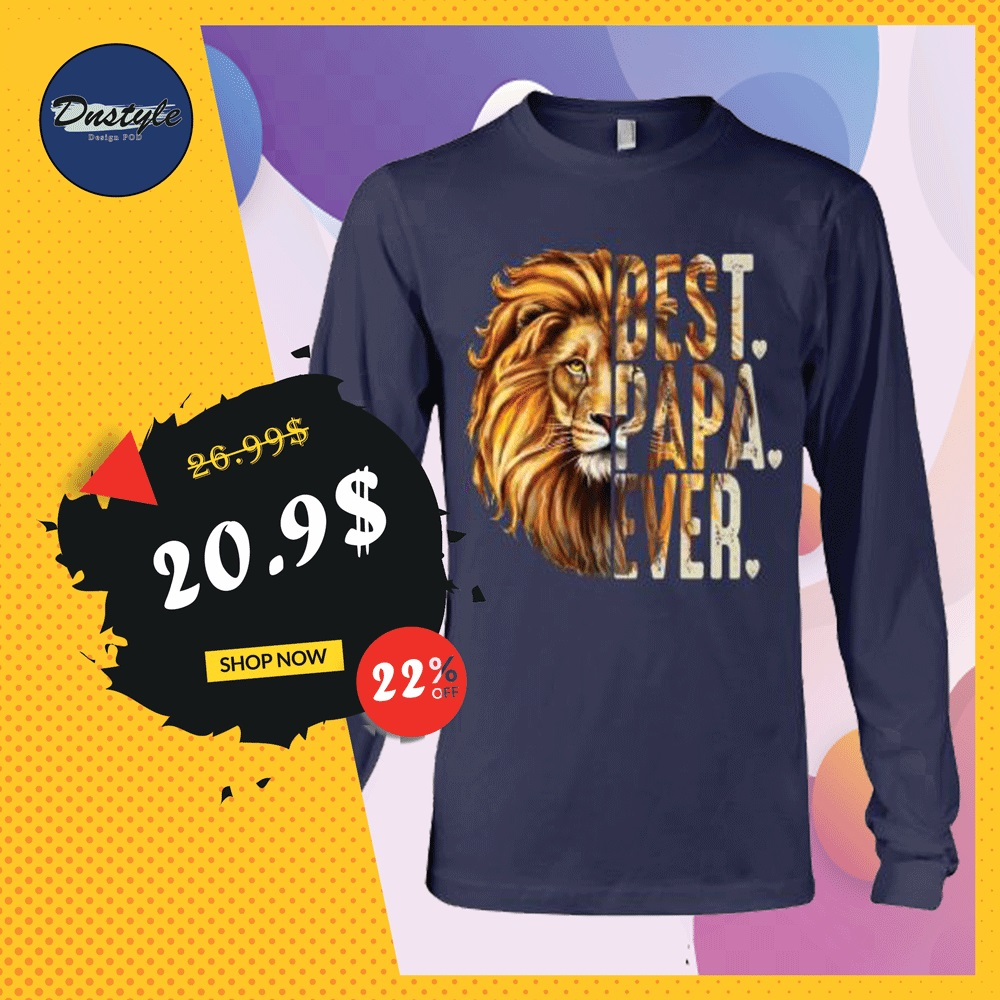 Lion best papa ever long sleeved